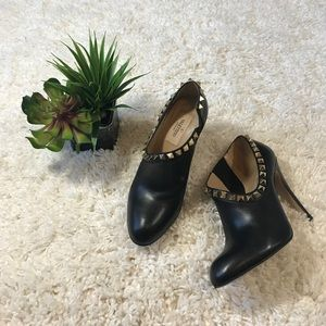 Authentic Valentino rock stud ankle booties