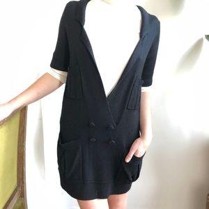 Charlotte Ronson Black S/S Swearer Dress