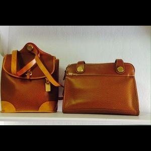 Dooney & Bourke leather backpack and handbag