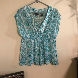 Pretty paisley babydoll blouse