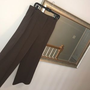 Brown high waisted straight leg trousers