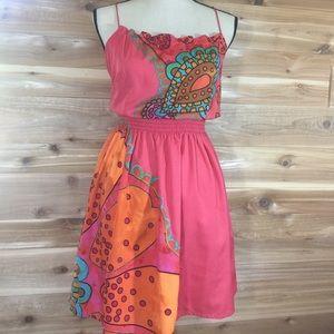 {Desigual} pink floral print dress