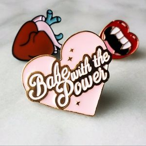Jewelry - NEW Babe with the Power Heart Pin