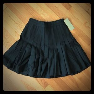 Pleated High Waisted Black Skirt