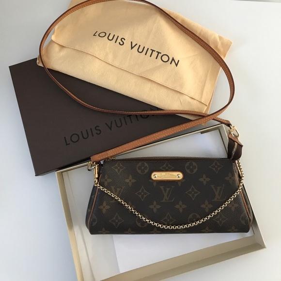 88e19bcaded4 Louis Vuitton Handbags - Discontinued louis vuitton monogram eva clutch