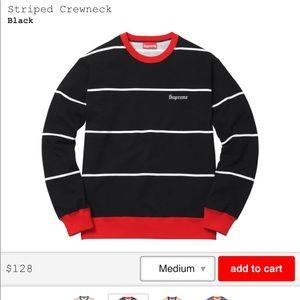 Authentic Supreme crew neck sweater