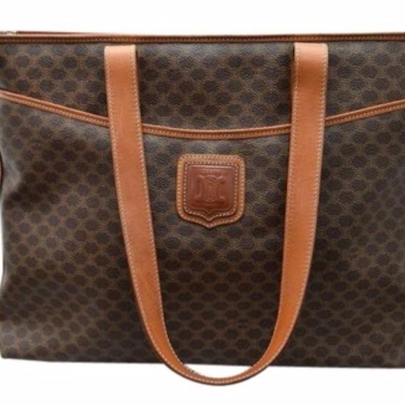 Celine Handbags - Authentic Celine Macadam Tote Bag Vintage b0e9ec06f4dc7