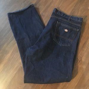 Dickies Men's Work Jeans Dark Wash 42x32