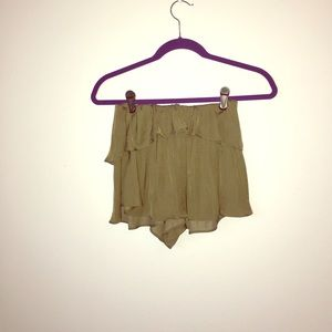 Urban Outfitters Green Flirty Skort