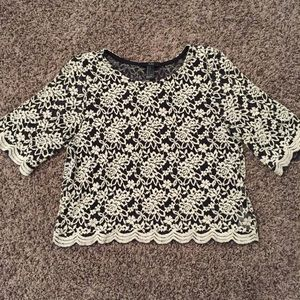 Forever 21 Lace Knit Crop Top