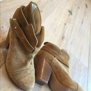 "Rag & Bone Suede ""Harrow"" booties or Ankle boots"
