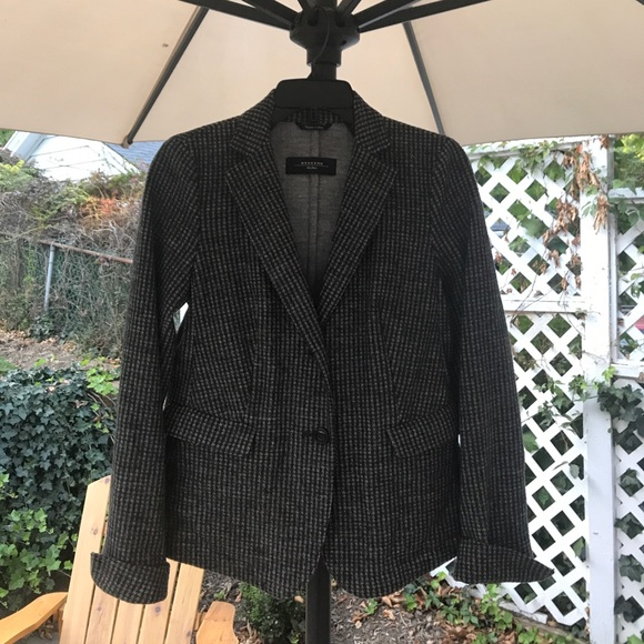 Max Mara Weekend Houndstooth Wool Blazer a2341f17ea4