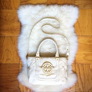 White tory burch amanda bag