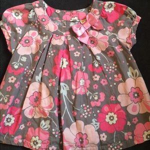 Gymboree flowered short sleeve shirt. 18-24mo