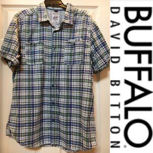 Buffalo David Bitton Short Sleeve Button Down