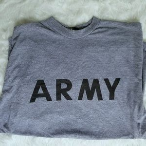 Army large mens cotton t-shirt short sleeve