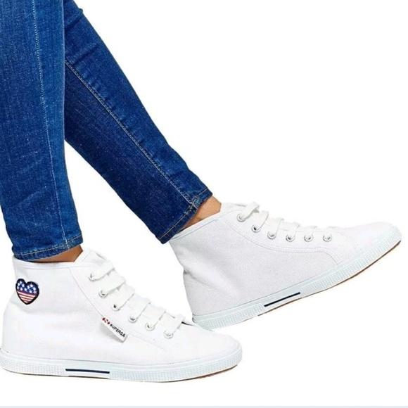 Superga Shoes | Superga White High Top