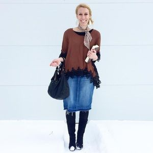 Tops - Lace Poncho