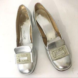 Balenciaga Vintage 1960s Mod Metallic Heels