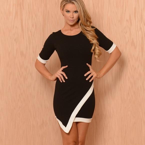 13dec72df00 Fashion Nova Black Asymmetrical Lucy Dress