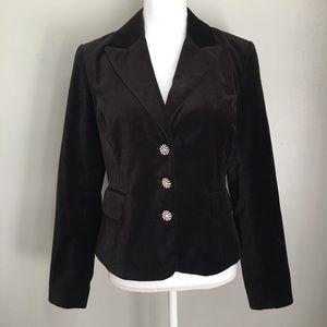 MICHAEL Michael Kors Black Velvet Blazer Jacket
