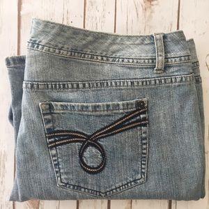 Torrid straight boot cut blue jeans