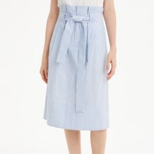 Club Monaco Blue and White Stripe Skirt
