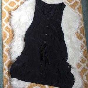 black anna sui 100% silk dress size M