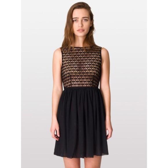 b5ce996aa3f61 American Apparel Dresses   Skirts - American Apparel Sleeveless Lace  Chiffon Dress