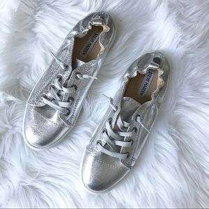 NEW Steve Madden Jane silver slip on sneakers