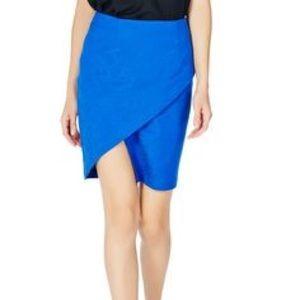 Justfab blue wrap skirt