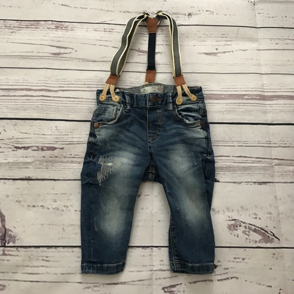 a51128bc Baby boy Zara jeans with suspenders 3-6 months