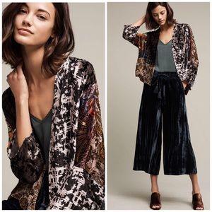 Nwot Anthropologie Floreat Velvet Muse Kimono