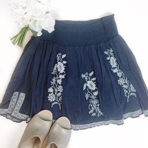 J Crew women's peasant boho floral skirt SZ S