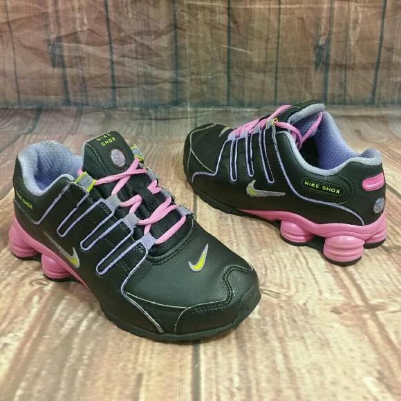 ef57b241e712 Toddler NIKE Shox NZ Black Pink Sneakers Sz 12C