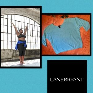 LANE BRYANT •Livi Active•Blue Mesh Top