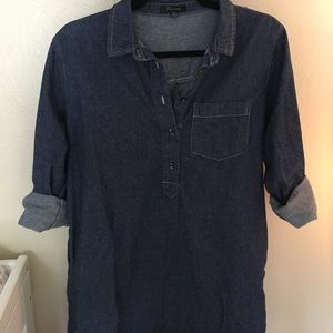 🔥 4/$20 SALE Chambray tunic w/ pockets