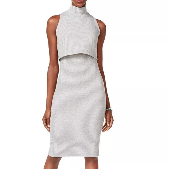 52ad47cd23 Bar III mock turtleneck layered dress