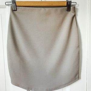Grey BooHoo Mini Skirt