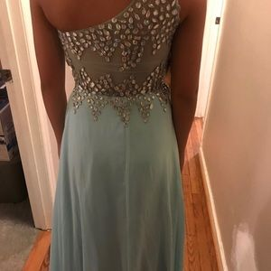 Dresses & Skirts - Light ice blue with AB stones formal gown