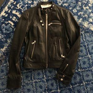 D&G dolce and gabbana leather biker jacket