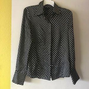 Kenneth Cole polka dot blouse