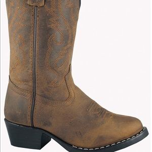 Boy's Cowboy Boots 5.5 Wide Leather Smoky Mountain