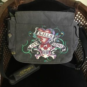 609a416479 Ed Hardy by Christian Audigier Bags - Authentic Ed Hardy Canvas Messenger  Bag