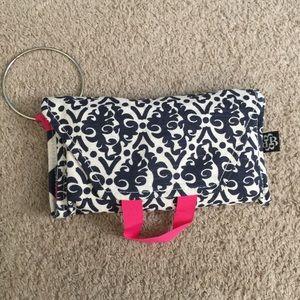 Bella Tunno Diaper Bag Wristlet Navy and Pink