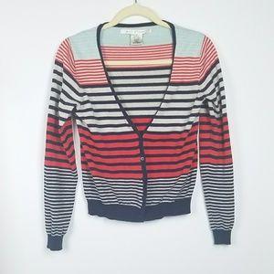 Max Studio Striped Cardigan