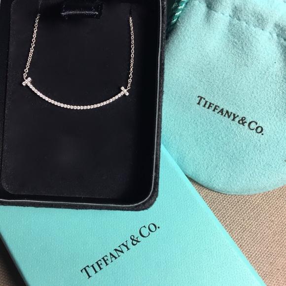 663f96924 TIFFANY T Smile 18k White Gold Diamond Necklace. M_59d42a542de512d33a05f3b0