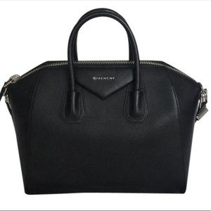 Givenchy Antigona Medium Black Leather Satchel