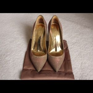 Shoes - Gianvito Rossi Glitter Effect Satin Twill Pumps