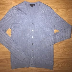 BROOKS & BROTHERS CABLE KNIT CARDIGAN SMALL